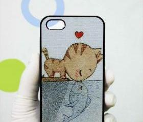 Cat Heart Fish iphone 5 case